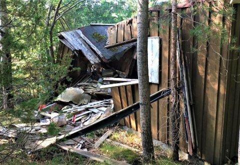ULOVLIG: Kommunen anser den sammenraste hytta på Lindtvedt som ulovlig oppført.