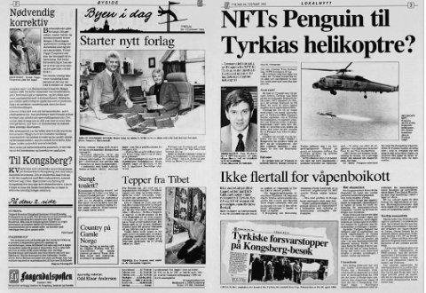 Arkivfoto fra en side i Laagendalsposten i 1995.