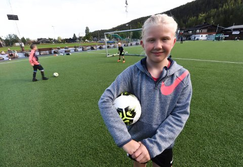 STORTRIVES: Ti år gamle Ilja Haugen Mehlum synes det er stas på KIF fotballgruppes sommertreninger. ALLE FOTO: OLE JOHN HOSTVEDT