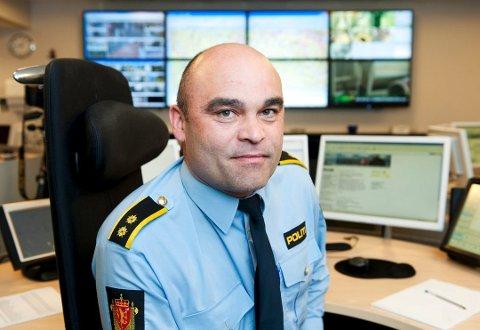Arkivfoto av operasjonsleder Rune Hunshamar ved Sør-Øst politidistrikt.