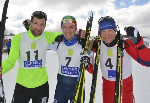 Pallen: John Eirik Karlsen fra Melbu vant årets «Gammen Rundt». Raymond Bakken fra arrangørklubben Leknes Skiklubb ble nummer to, mens Bent Kristoffersen fra Melbu tok tredjeplassen.