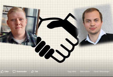Dugnad: Rudi Berntsen (til venstre) og Erlend Gjevre har opprettet dugnadsgrupper for Vestvågøy og Vågan på Facebook.