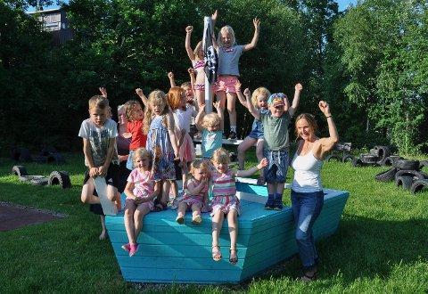 HURRA: Barna på Sjøhagen har fått verdens fineste lekeplass.