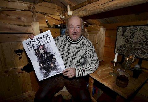 Framsida: Ole Kristian Ødegård med framsidebildet på boka.