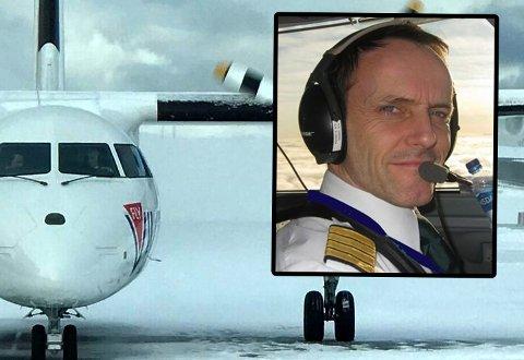 FORSVARER VALGET: Stig Ronald Thuv var kaptein på Fly Viking-avgangen som skaper stor diskusjon. Han mener han gjorde en helt rett vurdering da han ikke aviset flyet før avgang fra Hammerfest lufthavn mot Tromsø.