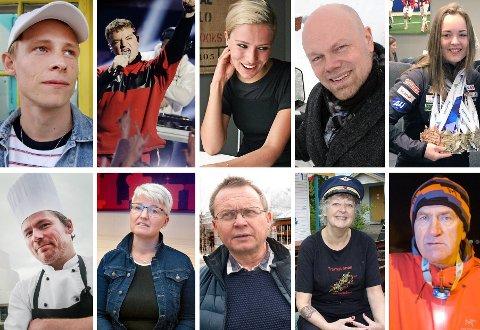Her er de ti nominerte til å bli Årets Nordlending 2019. Øverste rekke fra venstre: Sondre Justad, Bilal Saab, Dagny Norvoll Sandvik, Hans Olav Holtermann-Eriksen og Vilde Nilsen. Nederste rekke fra venstre: Asbjørn Sandøy, Ramona Lind, Knut Bjørklund, Hilde Sagland og Olaf Jacobsen.