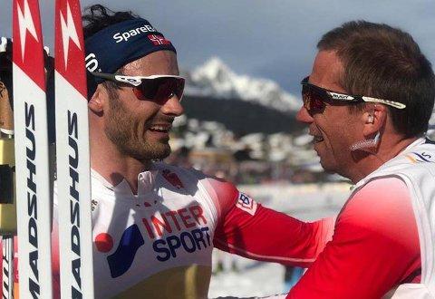 Esben Tøllefsen har ansvaret for skiene til Hans Christer Holund som ble verdensmester på 5-mila søndag. Foto: Norges Skiforbund.