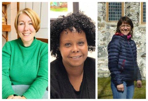 """FORHINDRE: Vil bidra til å gi kvinner tilhørighet gjennom """"Lørdag klokka to"""". Fra venstre nestleder Line Marie Wold, SEIFs Seynab Mikalsen. og leder Helena Roos."""