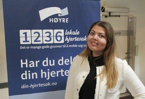 Fornøyd: Ås-kvinnen Ida Elisabeth Krogstad er politisk rådgiver i Høyres studentlag. FOTO: daniel skjevik-aasberg