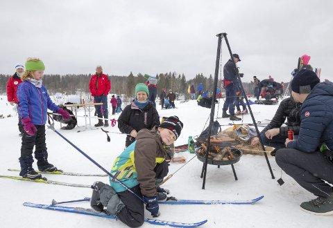 POPULÆRT: Familiedag med Skiforeningen på Østre Greverud gård i Oppegård i 2016.