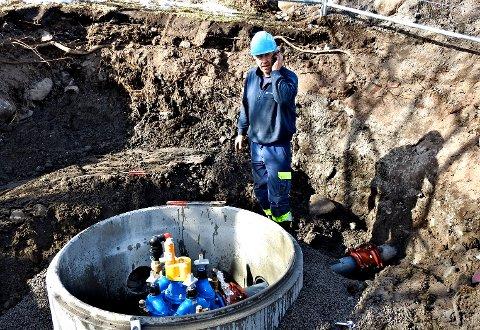Ingar Røseth jobbet med vannløsningen på Hvasser.