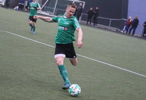 Magnus Therkelsen scoret begge målene for Hei mot Notodden II.