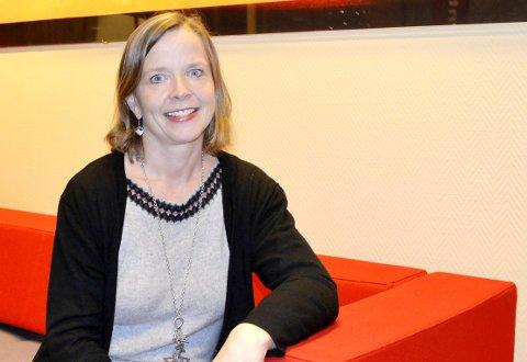Adm. dir. Hanne Nordgaard i Helgeland Sparebanker fornøyd med resultatet for 2019 etter et noe vanskelig 2018. Foto: Marie Skonseng