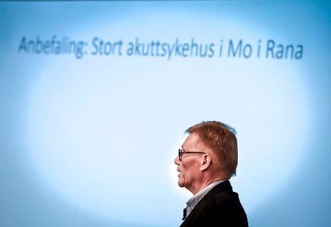 Den eksterne ressursgruppa med leder Helge Torgersen i spissen, landet på ett stort akuttsykehus i Mo i Rana i sin foreløpige anbefaling. 19. mars blir det kjent om konklusjonen står ved lag.