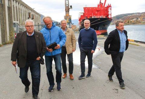 Havn: Tor-Arne Strøm (t.v), Einar Andersen, Kurt Jessen Johansson, Bjørnulf  Tverå og Kjell-Idar Juvik mener forslaget til statsbudsjett for neste år går gal vei.