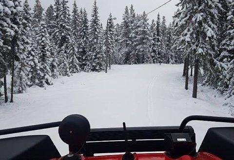 På morgenen 11. mai var det skiføre på Ringkollen.