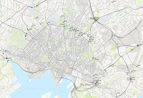 bomstasjoner oslo kart Romerikes Blad   Her kommer Oslos 56 nye bomstasjoner bomstasjoner oslo kart
