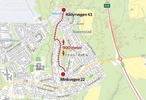 NYANSER: Ulik kontrakttekst gjør at Rådyrveien 43 kreves for 555 kroner i året, mens Minkveien 22 – 900 meter unna – kreves for over 20.000.