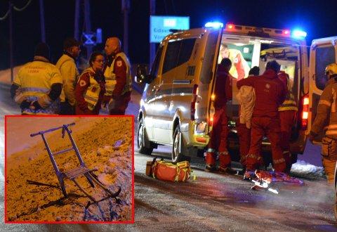 ALVORLIG: Kvinnen i 80-åra er fraktet til Ullevål sykehus med alvorlige skader etter ulykken.