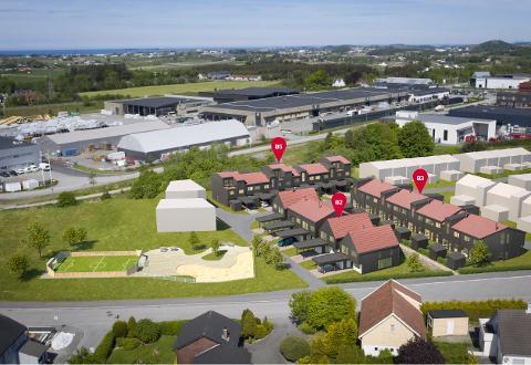 Jordbuksområdet i Folkvordveien skal bli til et nytt nabolag som består av rekkehus og eneboliger.