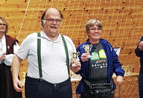 NM: Roar Olavsen og Hanne Bracken fikk gode plasseringer både i lag og individuelt.