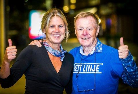 FORNØYDE: Vibeke Nilsen i Sammen for Sarpsborg og Per Olaf Toftner i Det Rette Parti var godt fornøyd med valgresultaet.