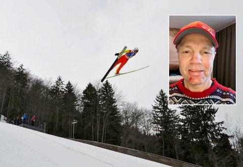 HØYT: Ole Andreas Skatvedt hoppet høyt i Slovenia. Så høyt at han gikk på trynet.