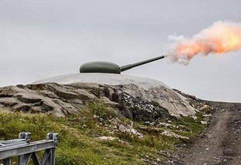 IKKE AVFYRT: Kanonen på toppen av Høytorp fort vil ikke bli avfyrt i helgen.