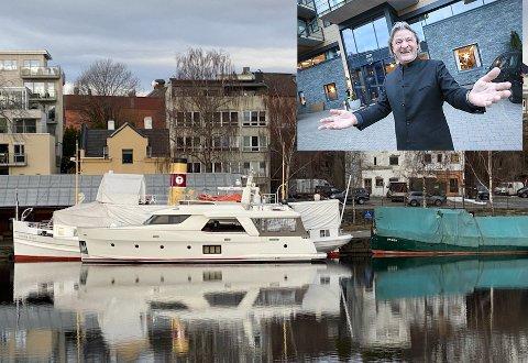KAN LEIES: Yachten som nå ligger i Hjellevannet og skal klargjøres for utleie til sommeren er eid av Thor Morten Halvorsen (innfelt).