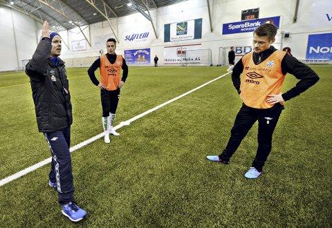 Trener Christian Michelsen hadde siste økt med Jonas Rønningen, Tor Erik Torske og resten av KBK-gutta før avreise til La Manga i Nordvesthallen mandag.