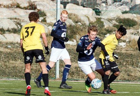 Emil Siira Si vertsen scoret fem mål mot Levanger lørdag. Her er han i kamp mot Start søndag. Foto: Steinar Melby