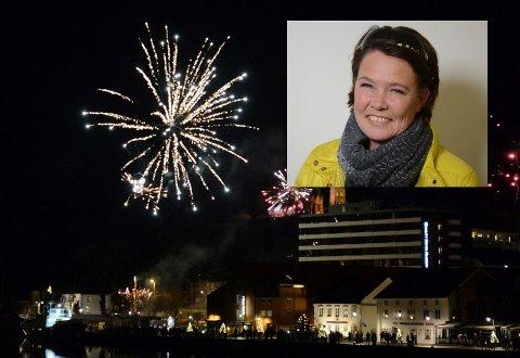 NYTTÅRSAFTEN: Cathrine Palm Spange mener at det er ingen menneskerett å få skyte opp raketter.