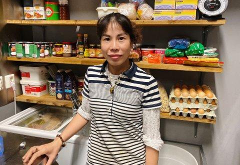 STREKMUNN: Restauranteier Helenna Aasen håper at hun snart kan være tilbake med et smilefjes på døra.