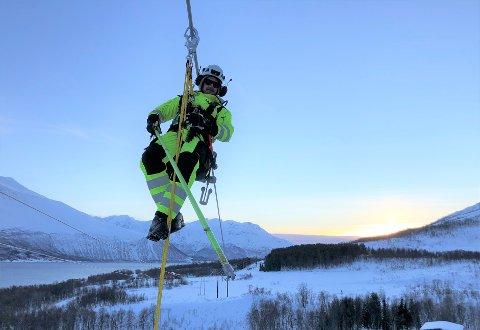 NATUR: Innlandsbedriften har gjennomført oppdraget på naturskjønne Kvaløya utenfor Tromsø. Ivaretagelsen av naturen var sentral da Laje vant anbudet.