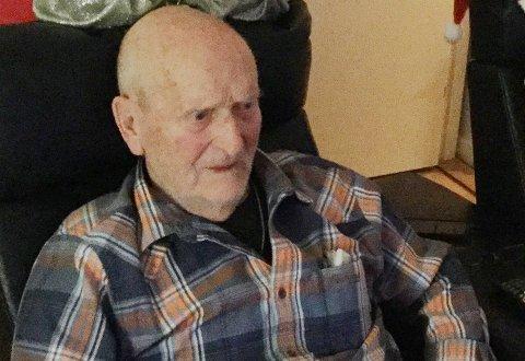 101 ÅR: Oscar Mathisen er Nittedals nest eldste innbygger og en av tre over 100 år.