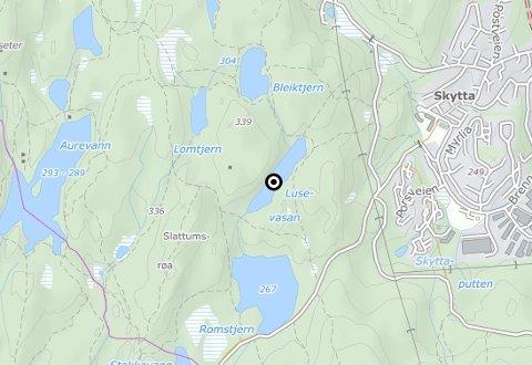 LILLOMARKA: Kart som viser Lusevasan.