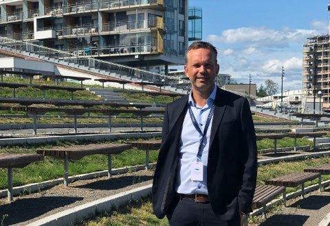 JUBELTALL: Stian Fuglset i Oslofjord Convention Center kan juble over solid omsetningsvekst. I følge Fuglset vil selskapet gå med overskudd fra 2020.