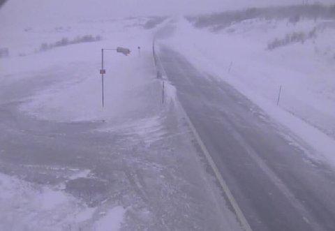 SNØ: Har du tenkt deg over fjellovergangene i Sør-Norge i helga, anbefaler Meteorologisk Institutt vinterdekk. Bildet er fra Dovrefjell ved en tidligere anledning.
