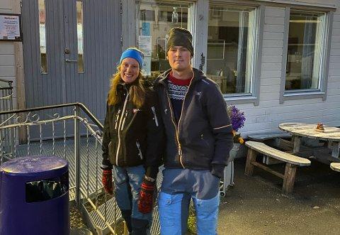FLYTTET TIL FINNMARK: 23-åringene Solveig Bollingmo Svardal og Mattias Fætten Almås vendte nesa mot Finnmark, men nå vil de hjem til Holtålen.
