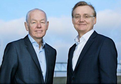 Natt til søndag gikk DIPS-gründer og tidligere administerende direktør, Tor Arne Viksjø (til venstre) bort. Kolbjørn Haarr (til høyre) tok over DIPS-roret 1. januar 2019.