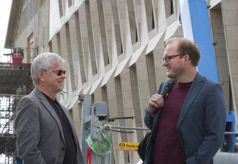 Regiondirektør i NHO Ole H. Hjartøy sammen statssekretær Daniel Bjarmann-Simonsen (H).