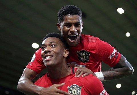 Manchester  Marcus Rashford og Anthony Martial har fått en bra start på sesongen med Manchester United.  (Nick Potts/PA via AP)