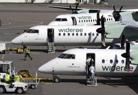 Torsdag hadde SAS åtte og Norwegian tre avganger fra Flesland, mens Widerøe hadde 26. Med dette er Widerøe den klart største kommersielle operatør på flyplassen for øyeblikket.