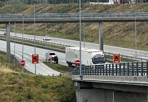 Det var torsdag ettermiddag at ulykken skjedde på E18 i Bergsengkrysset.