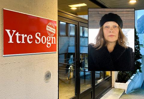 PÅ LØNSBOTNEN: May Britt Eide takka ja til jobben som redaktør i Ytre Sogn fordi ho ville vere med å vidareutvikle avisa.