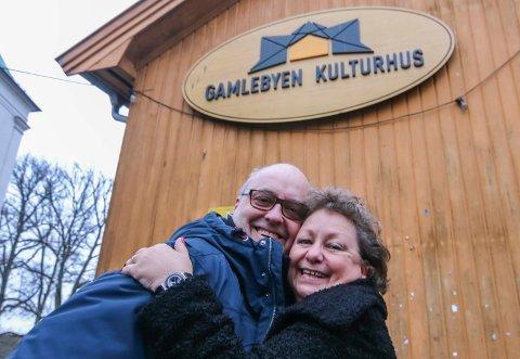 Danseaften: Hans Petter Bøckmann og Mona Kristin Hansen ønsker velkommen til romjulsball i Gamlebyen.