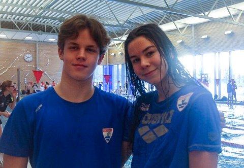 Mathilde Hammer og Emil Danielsen deltar denne helgen i Fredriksborg lekene i Kongstenhallen. Sistnevnte klarte lørdag NM-kravet på 100 meter medley.