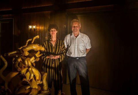 Lys og lyd: Installasjonen til Marianne Stranger og Helge Andreas Johansen kan oppleves på Hvaler til helgen. Rot og røtter er temaet.