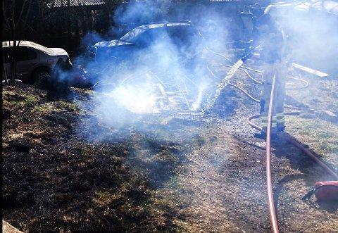 RASKT: Brannvsenet fikk raskt kontroll på brannen.