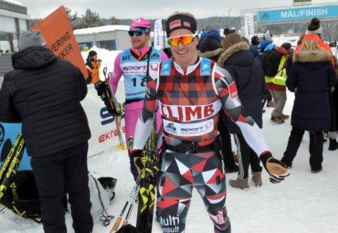 Morten Eide Pedersen fikk sin beste plassering i Birkebeinerrennet noen gang. Femteplass pluss to på seierspallen fra laget hans gjorde han veldig fornøyd.
